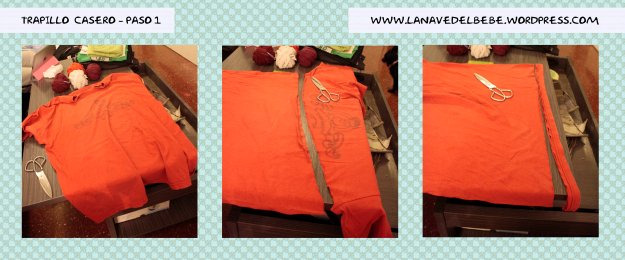 Trapillo de camiseta paso 1