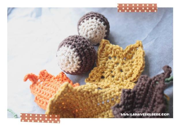 chestnuts castañas crochet